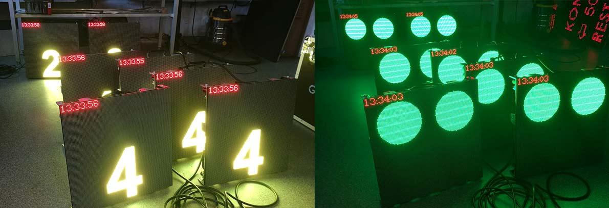 startowe zegary maszyny LED
