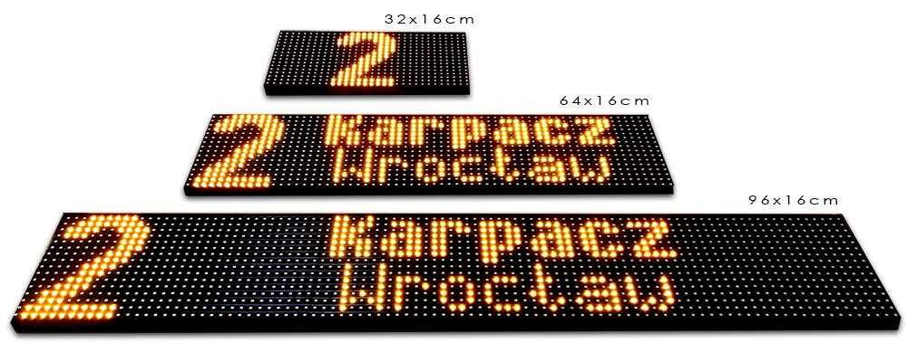 system tablic kierunkowych LED