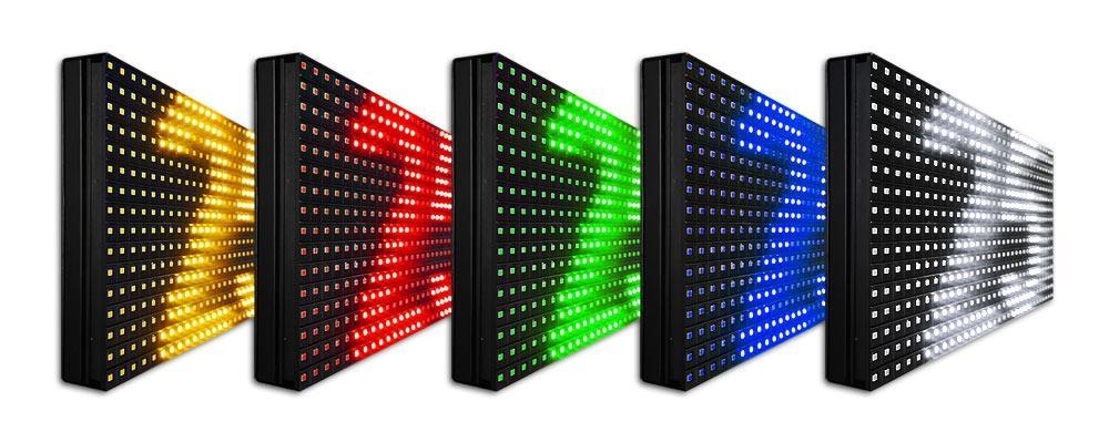 kolorowe tablice LED