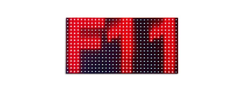 ilość znaków na panelu LED